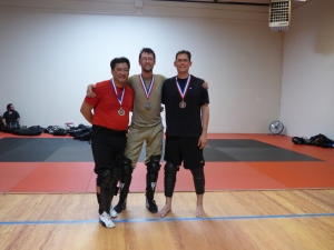 Sidesword Winners Mike Furukawa, Eric Smith, Paul Abrams