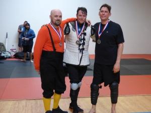 Longsword Winners Ted Elsner, Charles Boling, Paul Abrams